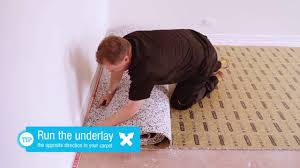 how to install carpet dunlop carpet u0026 underlay installation