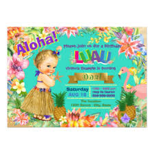 kids luau party invitations u0026 announcements zazzle