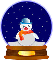 clipart animated snow globe