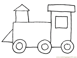 train 4 coloring page free land transport coloring pages