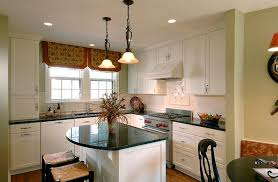kitchen island ideas for small kitchens white small countertop island black chair black pendant lights