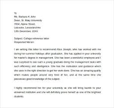 ideas collection college recommendation letter sample personal