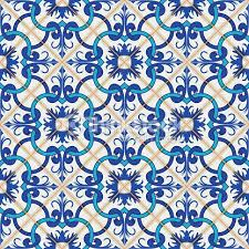 seamless moroccan portuguese tiles azulejo ornaments vector
