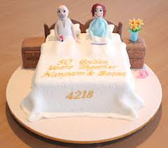 50th wedding anniversary cakes characters 50th bed wedding anniversary cake topup wedding
