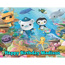 octonauts cake topper 1 4 sheet the octonauts edible frosting cake topper