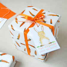 eco friendly wrapping paper carrots and rabbits wrapping paper set bunny gift wrap