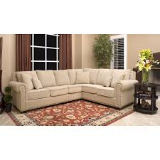 Overstock Sectional Sofas L Shaped White Ivory Fabric Sectional Which Paired With