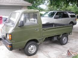 subaru sambar van subaru sambar mini truck army green