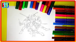 teenage mutant ninja turtles new coloring page video tmnt ninja