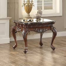 Cherry End Tables Mariacarla Cherry End Table With Marble Top For 369 94