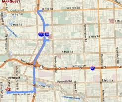 Mapquest Maps Map Of Livonia Michigan Michigan Map