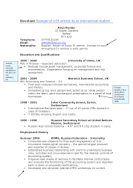 Resume Samples Junior Accountant by Cv Samples For University Students Literature Historical Examples