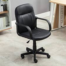 amazon com belleze mid back office chair pu leather ergonomic