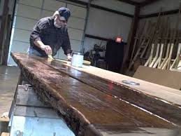 reclaimed oak table top finishing up a reclaimed oak tabletop tennessee wood flooring youtube