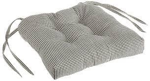 Cushioned Chairs Amazon Com Logan Gingham Check Print Cushioned Chair Pad Black