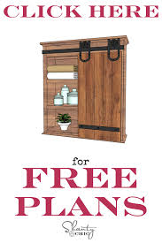 Bathroom Cabinet Plans Diy Sliding Barn Door Bathroom Cabinet Shanty 2 Chic