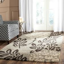 10 By 10 Bedroom by Safavieh Florida Shag Dark Brown Gray 4 Ft X 4 Ft Square Area