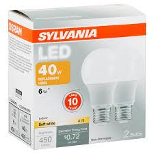sylvania led light bulb 40w equivalent a19 soft white 2700k 2