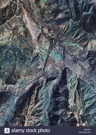 Aspen Colorado Map by Aerial Map View Above Aspen Colorado Stock Photo Royalty Free