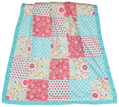 Pink And Teal Crib Bedding by Amazon Com Gia Floral Coral Blue 8 In 1 Baby Girl Crib Bedding
