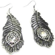 nickel free jewelry china fashion jewelry metal feather drop earrings with nickel free