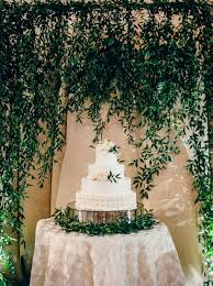 wedding backdrop greenery classic blush and gold wedding aisle society