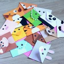 Origami Pets - origami envelope winter animals ted s