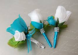 Turquoise Corsage Download Turquoise And White Wedding Flowers Wedding Corners