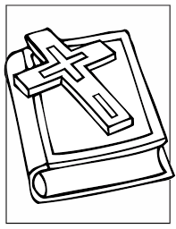 cross and bible coloring page bible stories pinterest