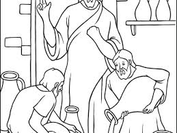 download wedding at cana coloring page ziho coloring