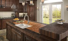 kitchen with butcher block island butchers block countertop transitional kitchen deocation with