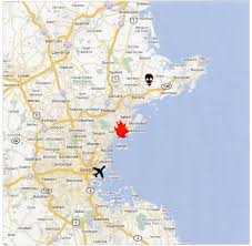 Map Of Boston Logan Airport by Joan Webster Murder