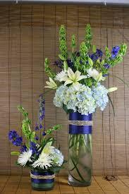 reception flowers tall arrangements rf1057 cobalt blue light
