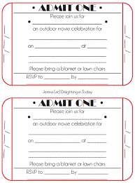 Movie Ticket Wedding Invitations Movie Birthday Invitations Template Best Template Collection