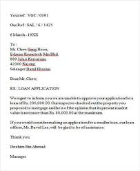 8 business rejection letters free sample example format