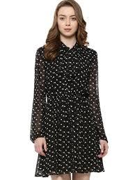 buy forever new polka dot tie knot dress for women women u0027s black