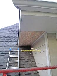 how to repair rotted soffit and fascia install the new soffit