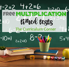 updated multiplication timed tests the curriculum corner 123