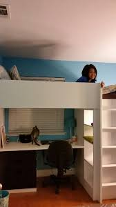 Bunk Bed Shelf Ikea Ikea Stuva Loft Bed She It The Ladder Is Only For The
