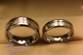 wedding bands tungsten wedding bands set matching size tungsten wedding
