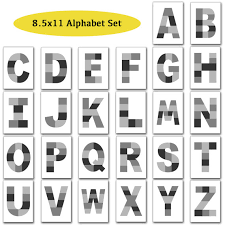 8 5x11 photo template pack alphabet template pack letter
