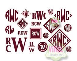 create monogram initials masculine monogram etsy