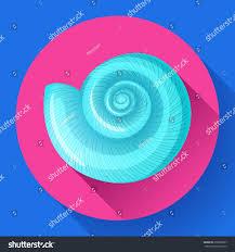 blue sea shell icon vector shell stock vector 656008957 shutterstock