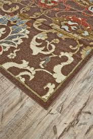 feizy rivington collection 3235f chocolate brown area rug