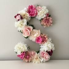 this beautiful customized 19 or 24 tall floral letter or number is