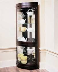 Interior Design Corner Corner Curio Cabinets For Sale Foter