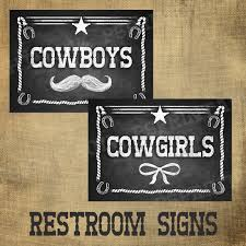 themed signs printed cowboy signs for your wedding or western