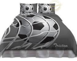 Sports Themed Duvet Covers Soccer Bedding Etsy