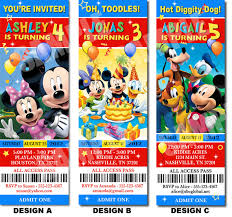mickey mouse clubhouse birthday invitations by uprintparty 10 00