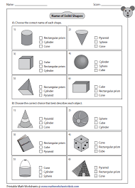 maths sheets for year 1 solid 3d shapes worksheets